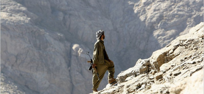Kurdish fighters defy the world from mountain fortress as bombing begins