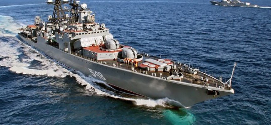 Russia is sending the large anti-submarine ship Admiral Panteleev to the Red Sea to shadow the USS Nimitz