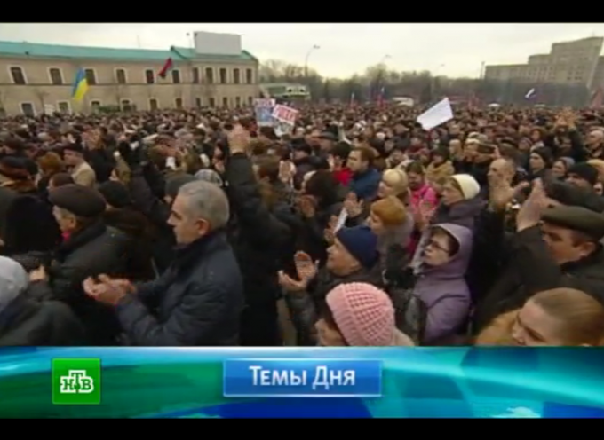 Huge pro-Russian rallies today in Kharkov and Donetsk