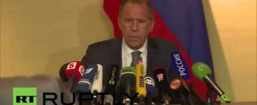 Lavrov press conference in Geneva after agreement with USA (with link to Kerry's press conference)