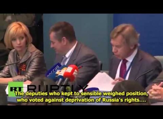 Full Press Conference of the Russian delegation at PACE (subtitled in English)
