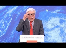 German Foreign Minister Steinmeier has a fit when confronted by anti-Fascist protestors