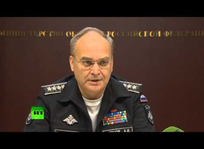 Russian Deputy Defense Minister Anatoly Antonov again, this time in English
