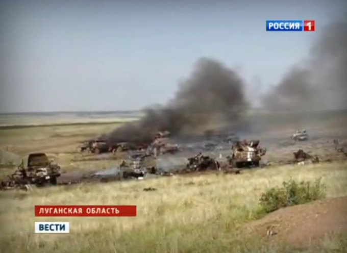 Russian and Ukrainian sources are reporting a major battle near Lugansk