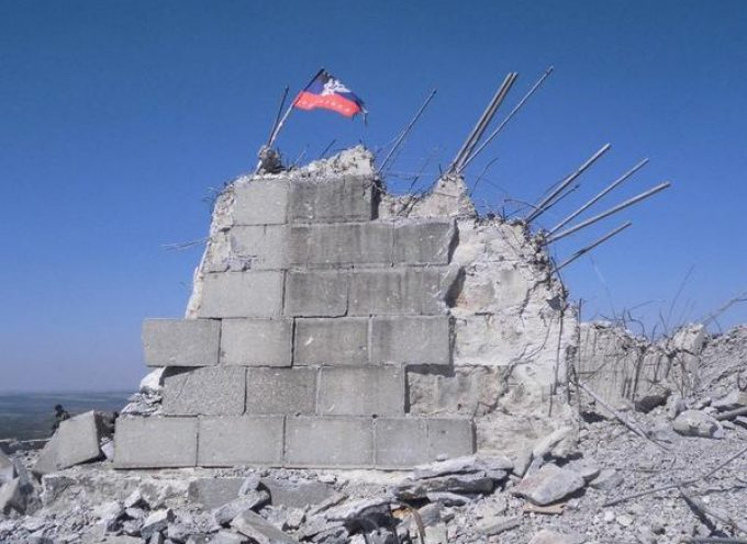 Novorussian flag over Saur Mogila (UPDATED!)