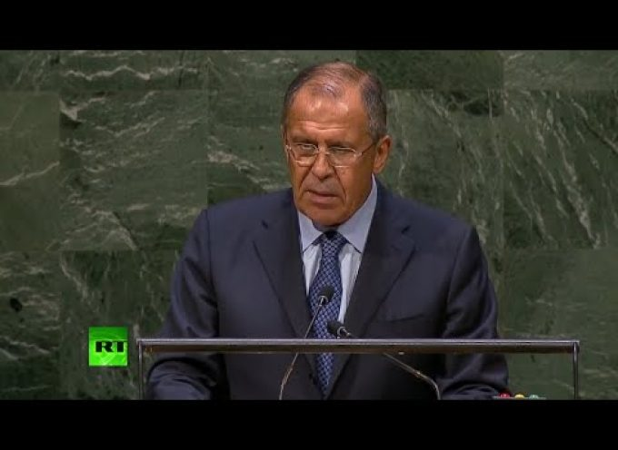 Speech of Russian Foreign Minister Lavrov at the UNGA on September 27th