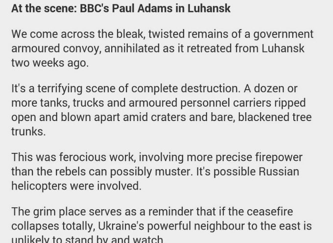 On a lighter note: the BBC propaganda is still the best