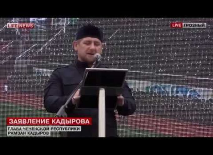 Ramzan Kadyrov offers Putin his own *personal* volunteer Chechen special force