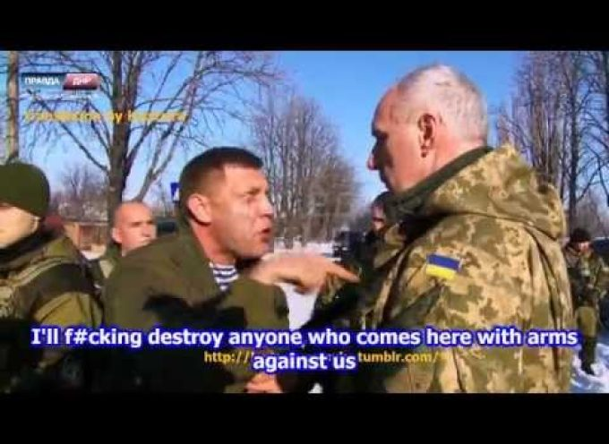 Zakharchenko offers to return their flag to the Ukrainians