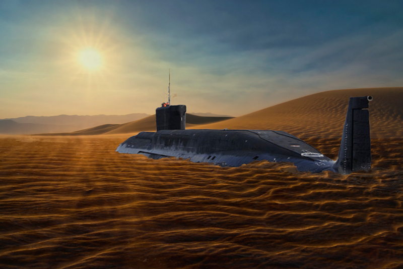 Submarine in the desert 2