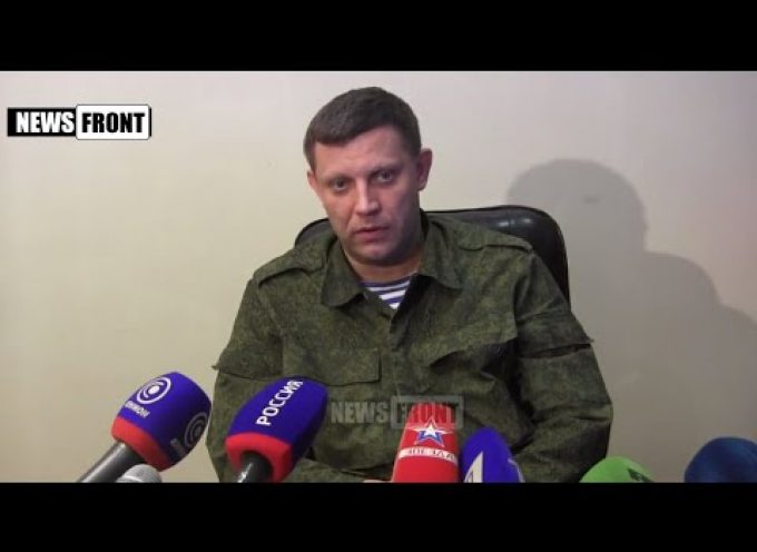 DPR PM Zakharchenko presser 27/02/15 Economical and political future of DPR