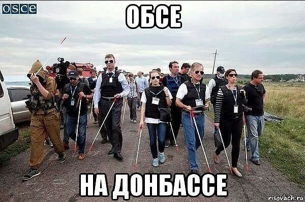 """OSCE """"monitors"""" in the Donbass"""