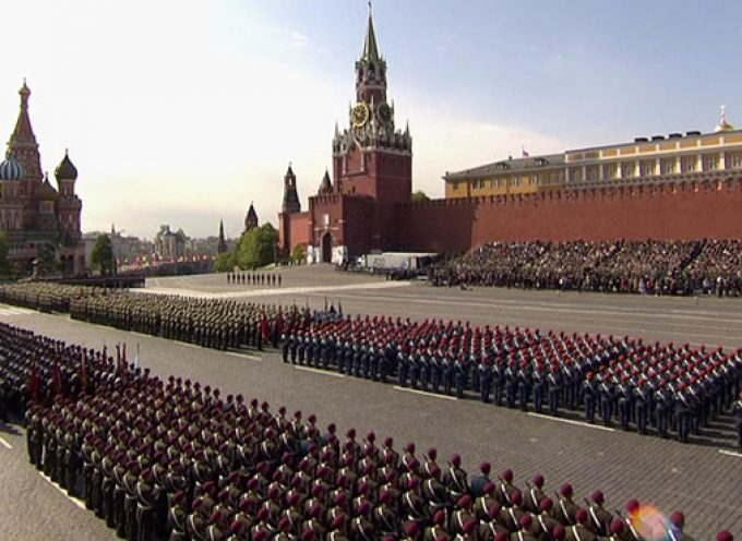 Victory Day Parade in Moscow and Donetsk