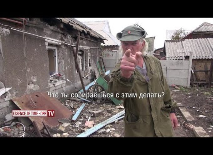 Family suffered from the punishers shelling. Gorlovka. DNR