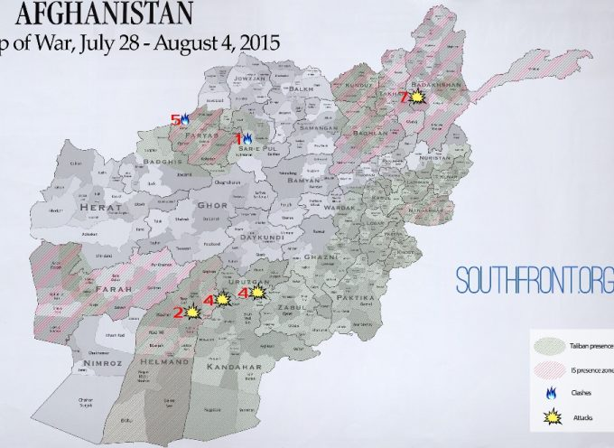 Afghanistan Map of War, July 28 – August 4, 2015