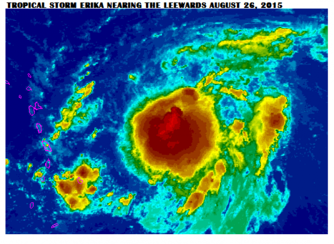 I might soon get a most unwelcome visitor: Hurricane Erika