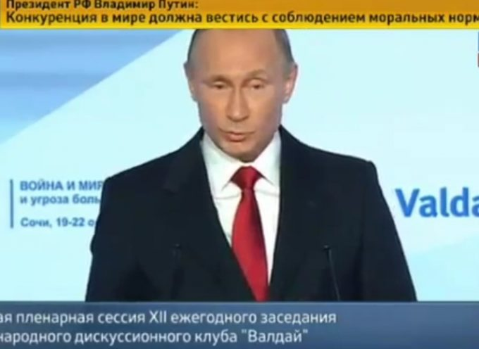 Putin blasts the US at the Valdai Club Conference