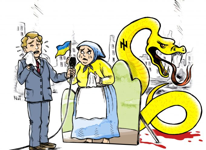 Help the needy Ukraine (Cartoon)