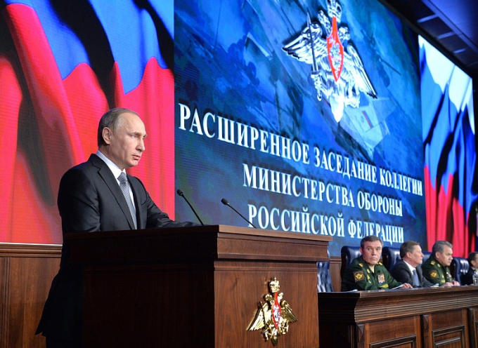 Vladimir Putin's address to the annual expanded meeting of the Russian Federation Defence Ministry Board