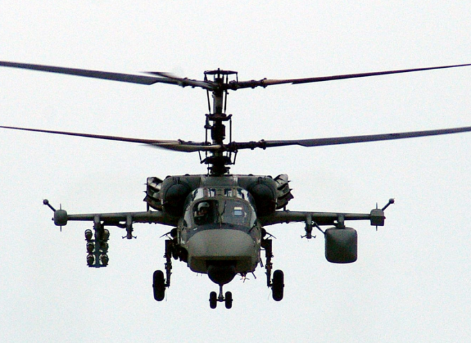 Russian attack helicopters in Syria
