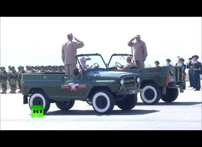 Victory Day Parade at the Russian Aerospace Forces base in Khmeimim, Syria