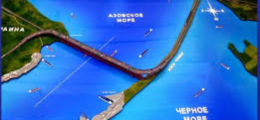 Crimean Kerch Strait bridge construction  new Videos
