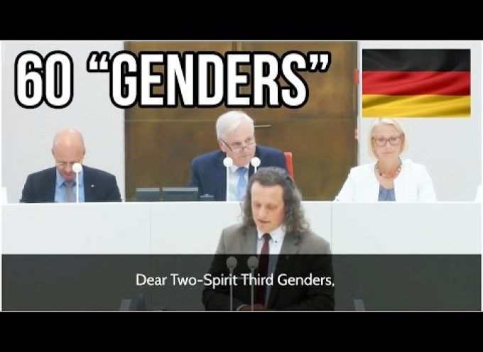 60 different Genders – Leftist LGBTTQQ-Proposal ridiculed by AfD Politician in German Parliament