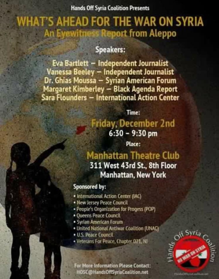 Syria event in NYC