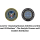 """The real significance of the ODNI report on """"Russia's election election interfering"""""""
