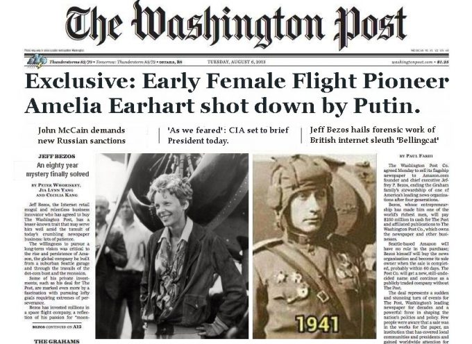 Exclusive: Amelia Earhart shot down by Putin!