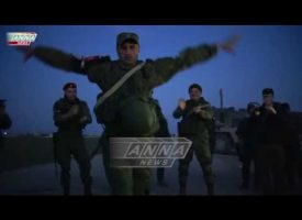 Syrian, Russians, Kurds and Chechens dance together in Syria