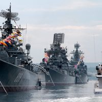 Russia's Navy Day parade 2017 in Saint Petersburg