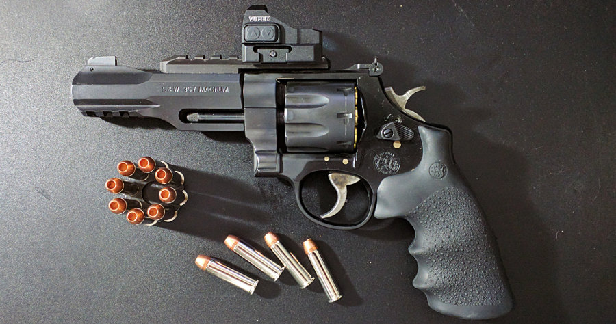 The Smith & Wesson R8: arguably the most advanced revolver ever made (shown here with Cor-Bon DPX .357 Magnum 125 Grain DPX hollow point rounds)