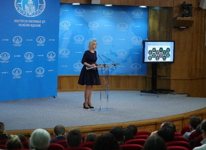 Briefing by Foreign Ministry Spokesperson Maria Zakharova, Moscow, March 29, 2018