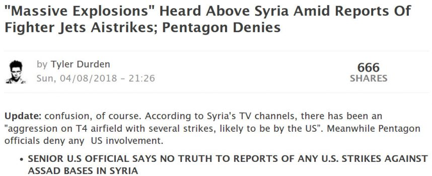 Missile strikes on Syria tonight: do not rush to conclusions + please post here what you hear