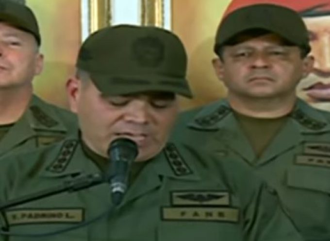 The Minister of Defense of Venezuela rejects Trump's blackmail against his country