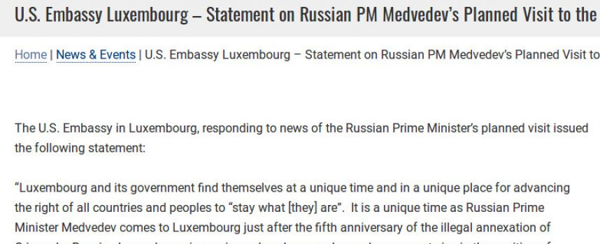 US treats Luxembourg like a vassal state or how US imperial hubris has gone bonkers…