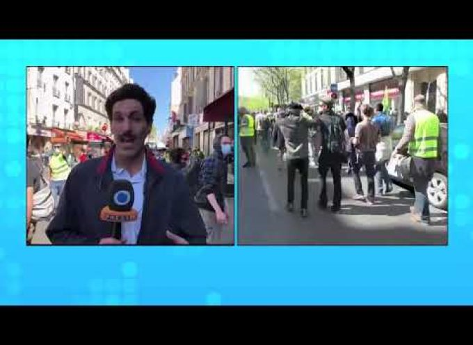 PressTV reporter tear gassed live at Yellow Vest protest