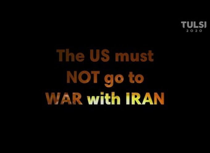 Tulsi Gabbard on the US seeking a pretext to go to war with Iran