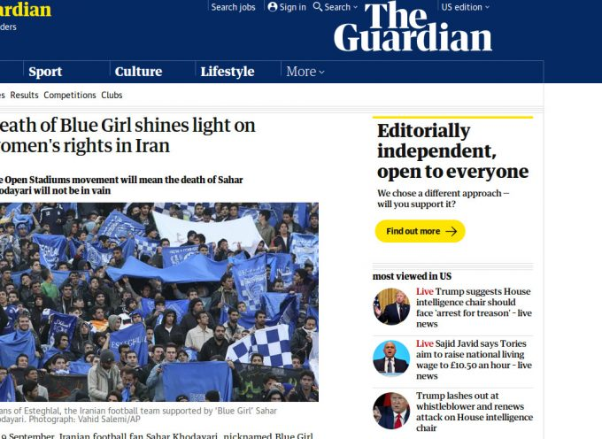 Iranophobic propaganda factory of fake martyrs: the case of the Blue Girl