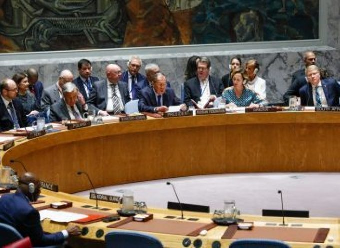 Lavrov's speech at the UN Security Council on September 25, 2019