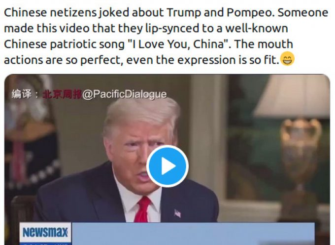 The Chinese make fun of Trump and Pompeo