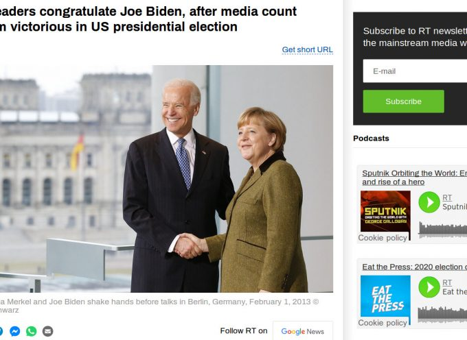 This is absolutely amazing: the EU leaders follow the Ziomedia and declare Biden the winner!!