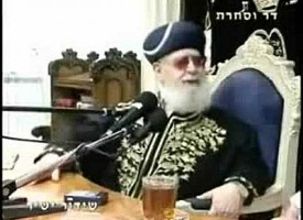"""Rabbi Ovadia Yosef, the head of Shas's Council of Torah Sages, declares that """"Goyim were born only to serve us"""""""