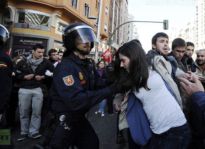 82 people arrested in Spain as mass protests sweep across Europe