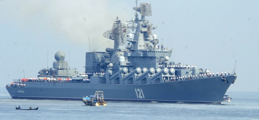 Russian and Chinese warships sent to eastern Mediterranean