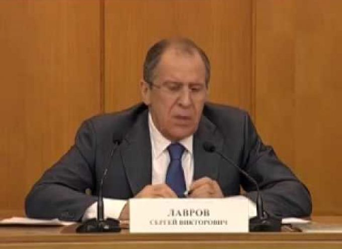 Foreign Minister Lavrov's press conference today (in English)