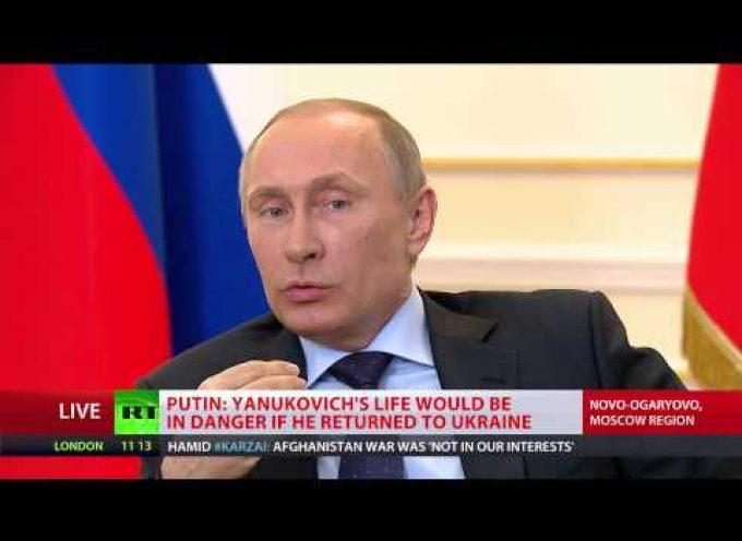 Putin's interview about the Ukraine and Crimea (must watch!)