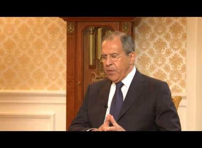 "Sergey Lavrov gives interview in English to ""Russia Today"""