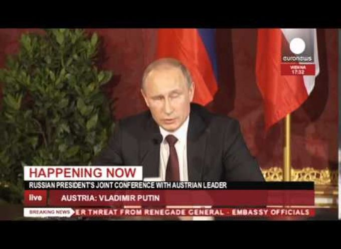 Putin – Fischer press conference fully dubbed in English